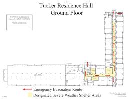 do ground lines go in a floor plan tucker hall