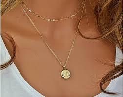 monogram locket necklace personalized locket etsy