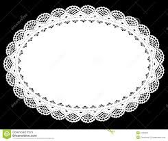 oval lace doily place mat stock vector image of ellipse 4135006
