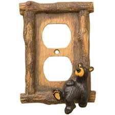 bear light switch covers rustic cabin ls and lighting switch plates