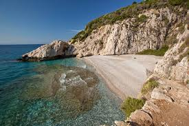 beach micro seitani in island samos greece stock images image