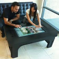 touch screen coffee table lcd multi touch screen coffee table with wifi mways technologies