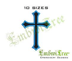 religious cross embroidery design machine embroidery cross design