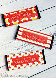 free printable halloween labels halloween candy bar wrappers i heart nap time