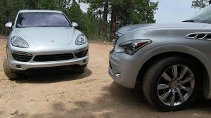 cayenne porsche 2012 2012 porsche cayenne s vs infiniti qx56 off road muddy mashup review