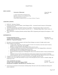 Assistant Project Manager Construction Resume by Resume Joseph Pirrone 11 2014