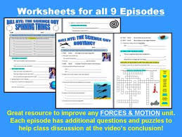 nye the science guy forces u0026 motion set 9 video worksheets