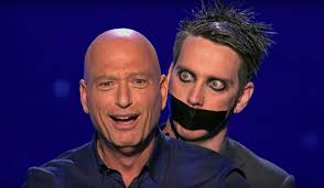 howie at home america u0027s got talent tape face mime performs with howie mandel