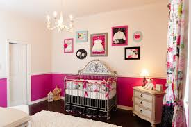 Pink And Brown Curtains For Nursery by Cheerful Design Ideas Using Baby Pink Loose Curtains And