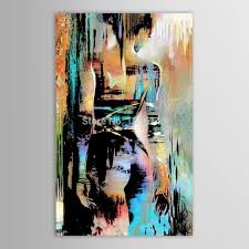 hand painted canvas modernism abstract girls back art