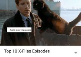 X Files Meme - hello are you a ufo top 10 x files episodes hello meme on sizzle