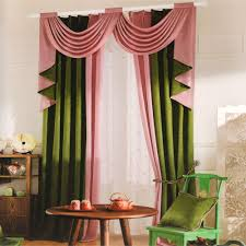 Green Color Curtains Pink Curtains
