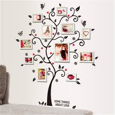Home Decor Photo Frames Diy Family Photo Frame Tree Wall Sticker Home Decor Living Room