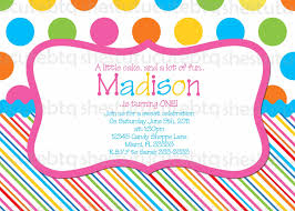 polka dot invitations stripes polka dots birthday invitation digital file you print
