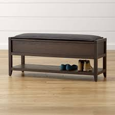 Piano Bench Pad Entryway Benches With Storage Crate And Barrel