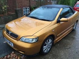 vauxhall yellow vauxhall astra coupe convertible 1796cc petrol 5 speed manual 02
