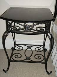Metal Bedside Table Wrought Iron Bedside Table Foter