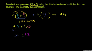 distributive property of multiplication practice khan academy