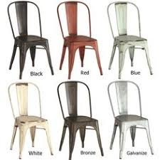 Distressed Bistro Chair Bistro Style Metal Chair In Distressed Red Finish Dining Tables