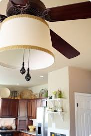 a great step by step on how to pretty up a ceiling fan diy