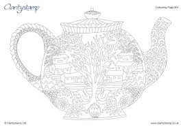 exquisite design teapot coloring page petkins tea pot from season