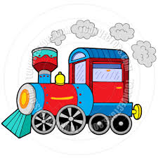 cartoon steam locomotive by clairev toon vectors eps 43245