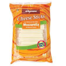 carbs in light string cheese cheese sticks mozzarella family pack wegmans