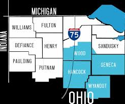 Defiance Ohio Map by Map2 1024x855 Png