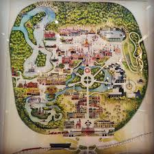 vintage disney magic kingdom map at downtown disney s of