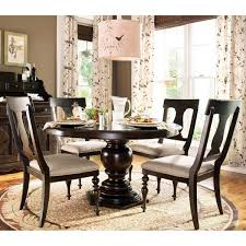 Round Black Dining Table Adorable Decorating Ideas Using Round Brown Wooden Tables And L