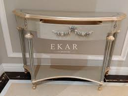 Mirrored Console Table Art Deco Console Table Mirrored Console Table Antique Apricot