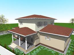 house design and 3d floor plans with 3 bedrooms on two stories