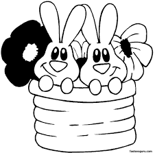 cute bunny coloring pages easter flower coloring pages images 2017 archives gobel coloring