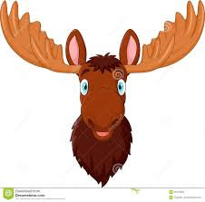 cartoon moose head isolated on white background stock vector