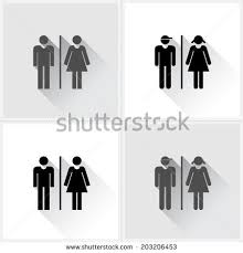 Male Female Bathroom Signs by Toilet Icon Male Female Symbols On Stock Vector 200333624