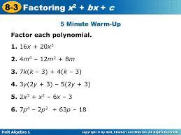 algebra 2 factoring polynomials worksheet worksheets