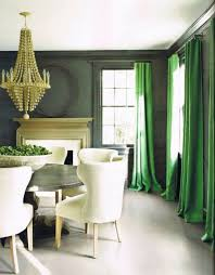 green curtains transitional dining room kay douglass