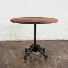 Industrial Bistro Table Reclaimed Bistro Table Industrial Furniture Touch Of Modern