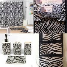 Bathroom Rug And Shower Curtain Sets 22pc Bath Accessories Set Black Zebra Animal Print Bathroom Rugs