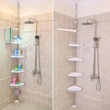 Small Bathrooms With Corner Showers Corner Shower Shelves Unit Perfect For Small Bathroom Storage