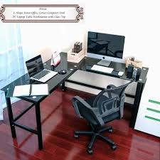 amazon com merax l shape home office corner computer desk pc