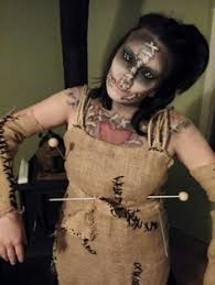 Voodoo Themed Halloween Costumes Diy Voodoo Doll Costume Scary Burlap Yarns