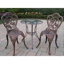 Balcony Bistro Set Patio Furniture by Amazon Com Oakland Living Hummingbird Cast Aluminum 24 Inch