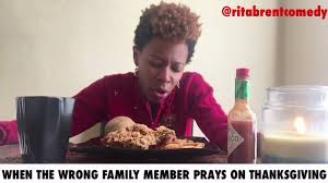 comedienne brent the thanksgiving prayer