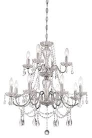 12 Light Chandeliers Caventi Collection 12 Light Chrome Chandelier Lighting