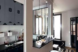 cuisine avec bar ouvert sur salon cuisine semi ouverte sur le salon aménagement conception