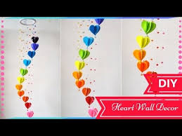 Valentine S Day Diy Decorations Youtube by Diy Wall Decor Ideas For Valentines Day Heart Decors In Living