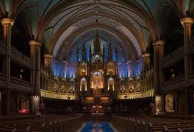 beautiful cathedral interior hall benches church building holy