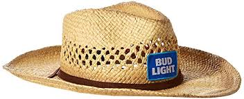 bud light beer hat bud light men s paper straw cowboy hat natural one size amazon co