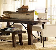 Bench Style Dining Room Tables Dining Tables Pottery Barn Dining Bench Broyhill Formal Dining